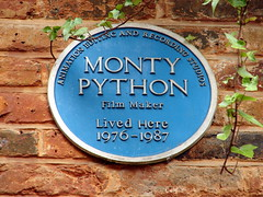 Photo of Monty Python blue plaque