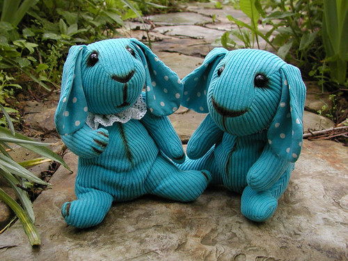 turquoise bunnies