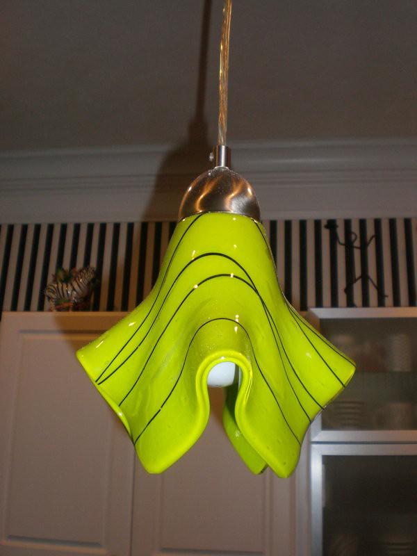 Lime Green Custom Pendant Light jc