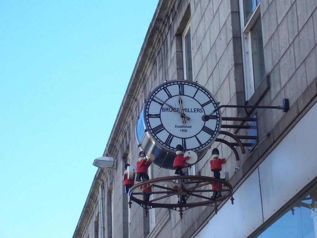 Bruce Millers Clock, Union Street, Aberdeen