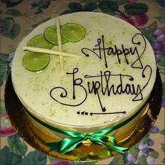 Key Lime Birthday Cake