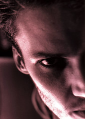 self portrait for college IV_MMVI (andronicusmax) Tags: light shadow selfportrait man male men eye love film me sex closeup comfortable composition 35mm ego dark hair nose happy nice intense europe european shadows angle affection flirt style lips angie xp2 drugs stare brooding sexual he closeness bliss tones chiaroscuro myroom tone 90s suggestive stubble subtle broody oddangle tenebroso tenebrism hom 90sstyle