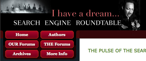 Martin Luther King Day Logo '09 Search Engine Roundtable