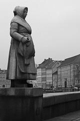 By the Canals of Copenhagen (Kirsten M Lentoft) Tags: bw statue copenhagen denmark blackdiamond kirstenmlentoft