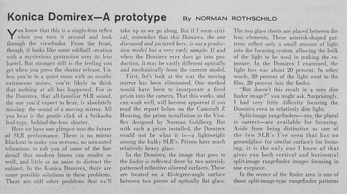Article about Domirex, page 1