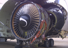 GE CF6-50 Engine (AV8NLVR) Tags: mississippi airplane aircraft aviation jet engine greenwood ge stockphoto dc10 mcdonnelldouglas gwo turbofan cf6 kgwo n19072 bruceleibowitz