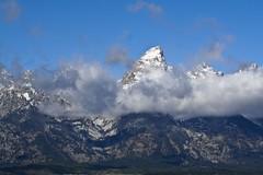 Grand (AlongtheTrailPhoto) Tags: sky mountain snow west clouds landscape peak wyoming grandteton rockiemountains mountainscape