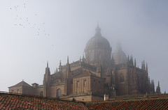 A View of Catedral Nueva (Dmitry Shakin) Tags: mist church fog spain cathedral catedral salamanca nueva castillayleon anticando simplystunningshots