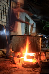 COOKING (zaid_gti) Tags: old school cooking metal canon fire eos large pot skool malaysia pan masak kenduri kawah 450d