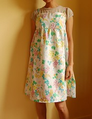 Camisole dress (mame*) Tags: flower vintage dress sewing sheet camisole