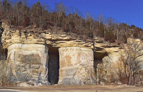 Saint Peter Sandstone mines, in Pacific, Missouri, USA