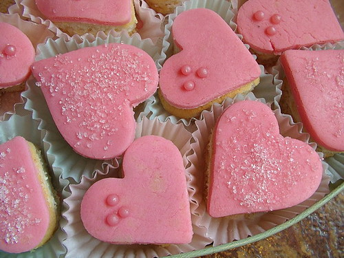 marzipan heart shaped cakes