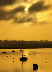 Golden (ExeDave) Tags: uk england sky clouds sunrise river landscape boats golden estuary explore coastal devon gb spa waterscape exe starcross eastdevon slightcrop interestingness500 exeestuary sssi teignbridge mywinners theperfectphotographer moreorlessastaken wxmouth