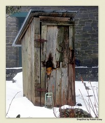 Do You Remember The Good Old Days (Robert Lz) Tags: snow outhouse appalachiantrail bloodmountain neelsgap searscatalog doyourememberthegoodolddays walasiyicenter
