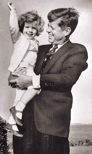 President John F. Kennedy and daughter Caroline, 2 in Hyannisport, by thesmuggler- Night of the Swallow""