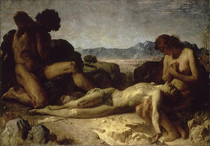 Léon Bonnat (French, 1833-1922) Adam and Eve Mourning the Death of Abel (c. 1860) Oil on canvas.