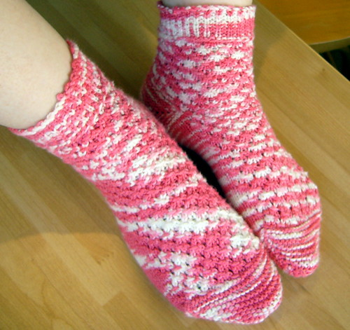 Raspberry Ripple Socks