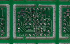 PCB for ALS363A (svofski) Tags: crap pcb mlf qfn als363a millededge