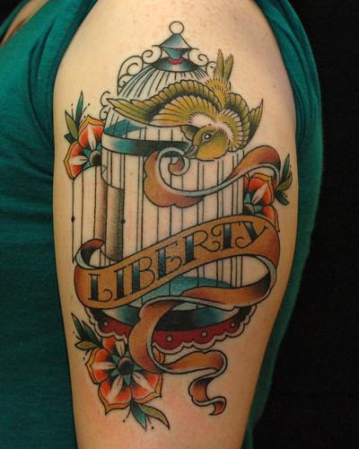 Birdcage Web Tattoo