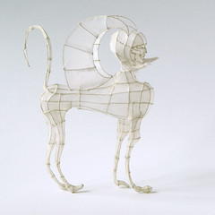 Paper and Wire Sculpture: Sphinx
