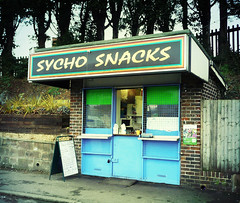 sycho snacks (buckaroo kid) Tags: uk england sussex haywardsheath explore hut maybe kiosk sychosnacks