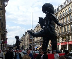 Scary giant baby statues dominate the streets of Lille (Abi Skipp) Tags: street baby statue lille