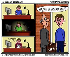4 6 09 Bearman Cartoon Tax Preparation (Bearman2007) Tags: humor cartoon bearman tax irs refund politicalcartoon editorialcartoon april15 audit bearmancartoons