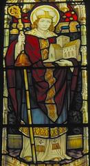St Teilo, Llandaff (robin.croft) Tags: wales cathedral cardiff saints stainedglass celtic welsh llandaff teilo ewardian