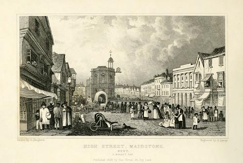 016-Hig Street en Maidstone un dia de mercado- Kent 1832