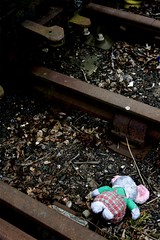 Suicidal bear (routemaster_fan) Tags: london underground grafitti decay tube trains londonunderground railways thetube centralline londonist tubestock oneunder 72ts 62ts hainaultdepot