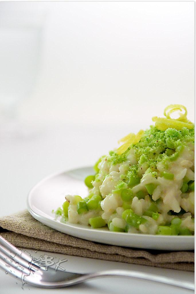 Risotto ai talli d'aglio