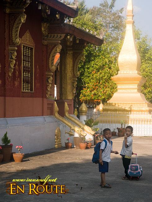 Luang Prabang Wat Sensoukarahm School Kids