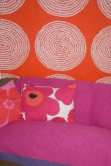 Livingroom (Toodeloo!) Tags: pink red orange vintage marimekko unikko