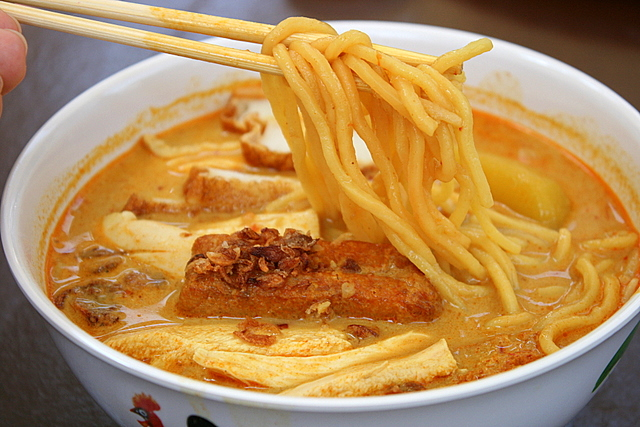 Delicious curry chicken noodles!