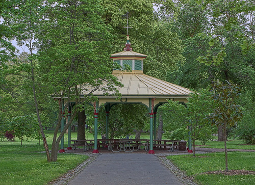 Tower Grove Park, in Saint Louis, Missouri, USA - Humboldt North Pavilion