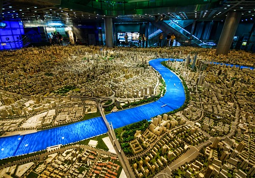 Even the model of Shanghai is huge