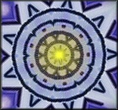 light and crayon mandala