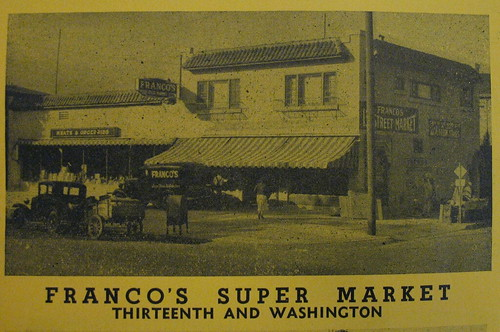 Francos Thirteenth Street Market, circa 1945.