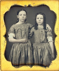 Our day! (Mirror Image Gallery) Tags: victorian daguerreotype farmgirls sausagecurls bottlecurls