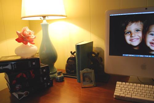 My Desk at Twilight