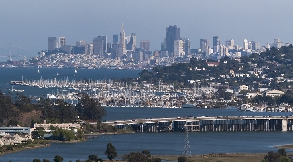 San Francisco View from Marin County - Crop