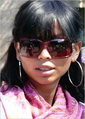 Portrait (Franc Le Blanc .) Tags: portrait girl sunglasses lumix candid panasonic streetphoto earrings portret shertogenbosch dmcfz18