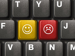 Computer keyboard close-up with two smiley keys (emoticons) (Heberger Site) Tags: smile face smiling closeup computer notebook keys happy sadness office pc eyes keyboard key icons technology symbol circles background laptop web internet joy humor expressions happiness icon anger email humour communication business human emoticons smiley button type letter characters network choice keyboards electronic emotions keypad typing emoticon feelings discontent insult dissatisfaction russianfederation riant