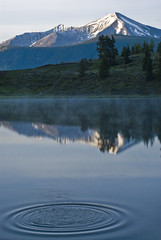 Lake ripple (girltwin) Tags: mountain lake morninglight nikon colorado ripple tranquility calm alpine rockymountains d200 crestedbutte alpenglow traquil girltwin 100commentgroup