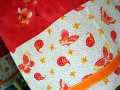 Shirred Red Sundress Detail