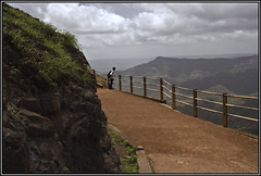 Like tourists huffing and puffing to reach the peak we forget the view on the way up - Friedrich Nietzsche (flickrohit) Tags: india clouds trek fort path maharashtra rohit vishalgad rohitgowaikar