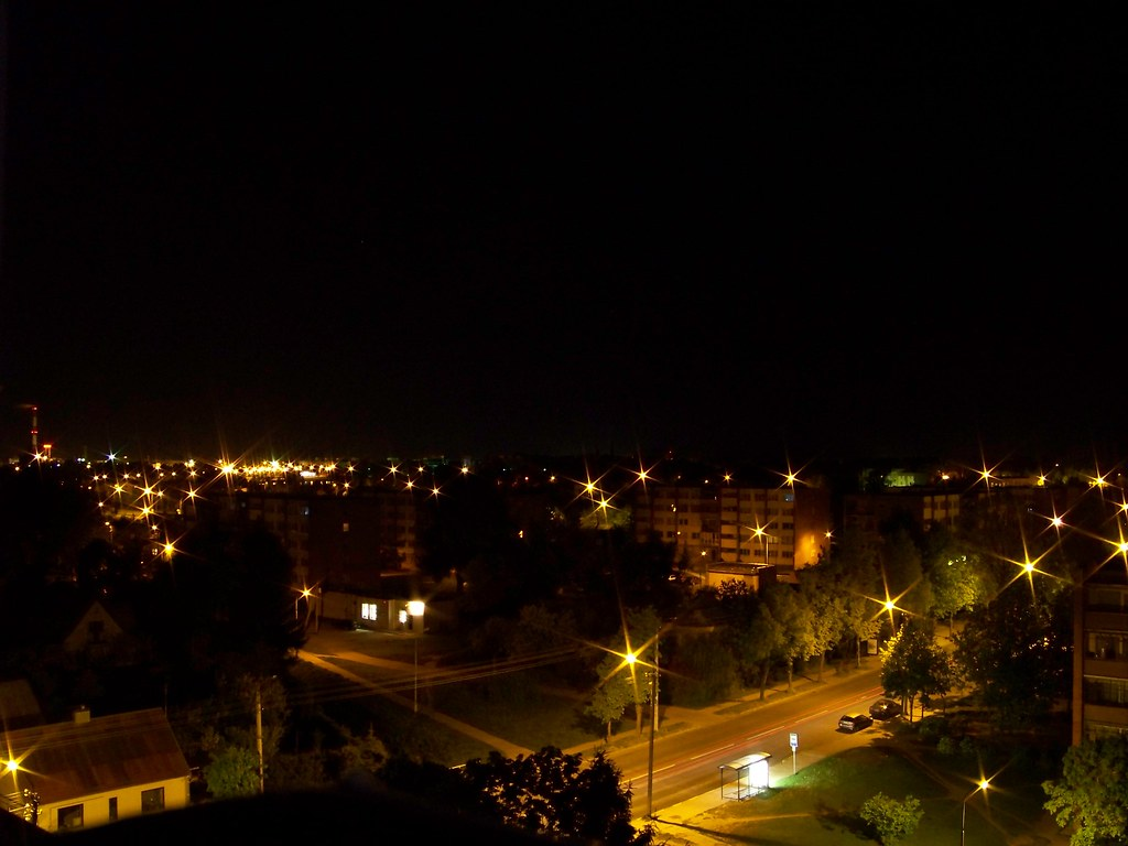 Panevezys night panorama