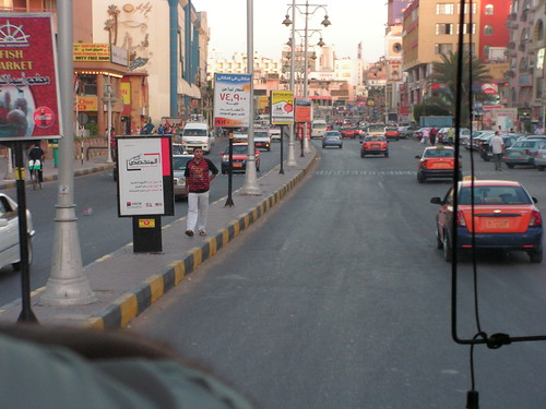 Traffic in centre of Hurghada