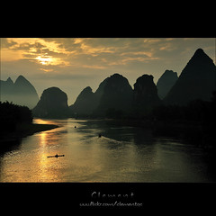 The Li River (Clementqc) Tags: china travel vacation sun beautiful nikon scenery colorful asia southeastasia guilin scene colourful nikkor soe guangxi  travelphotography abigfave platinumphoto aplusphoto d700 frhwofavs theunforgettablepictures goldstaraward rubyphotographer