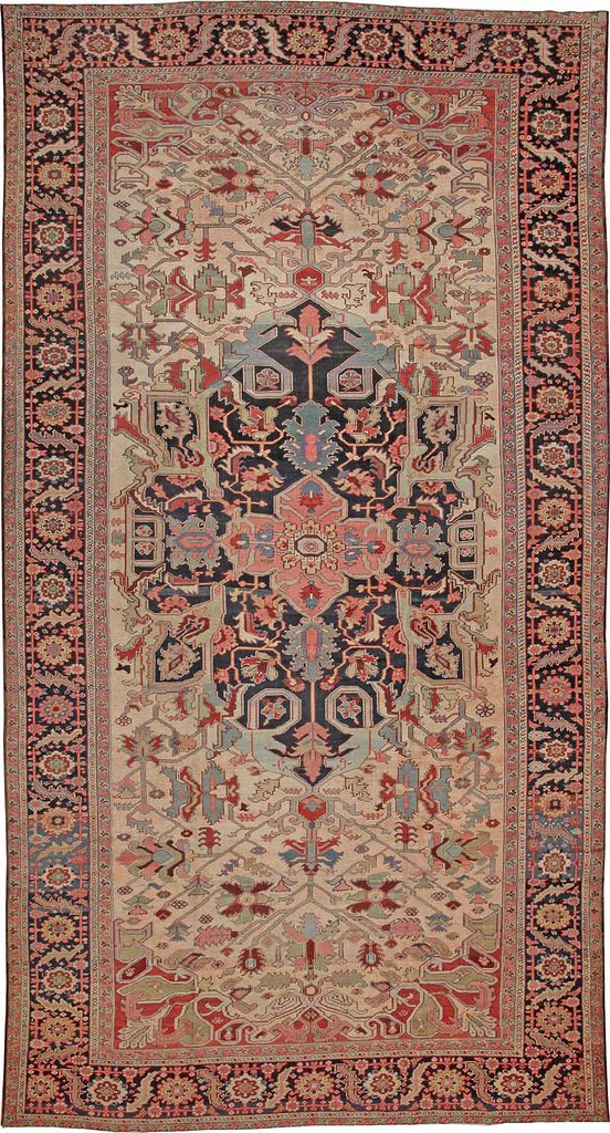 Antique Heriz Serapi Persian Rugs #44085 by Nazmiyal Collection